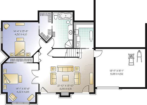 Basement image of Featured House Plan: BHG - 1147