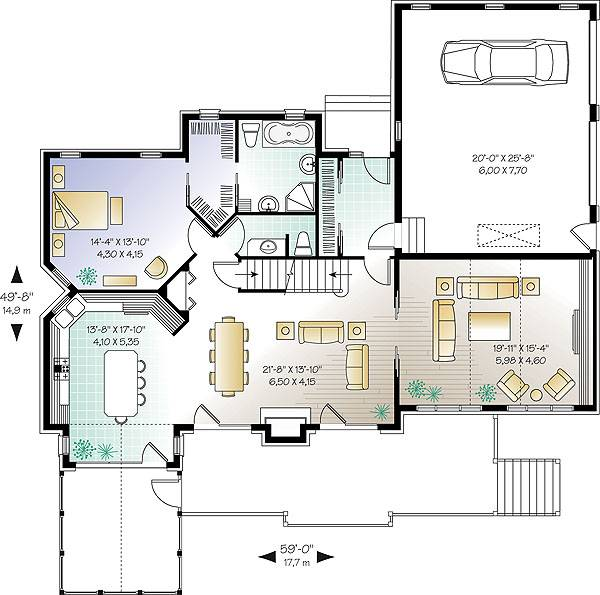First level image of Featured House Plan: BHG - 1147