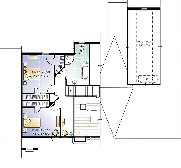 Second level image of Featured House Plan: BHG - 1147