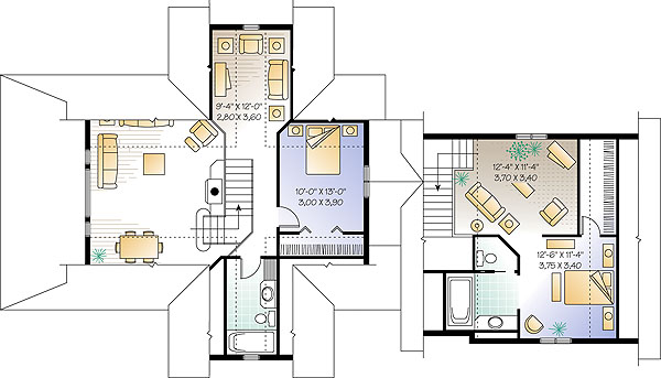 Second level image of Featured House Plan: BHG - 1189