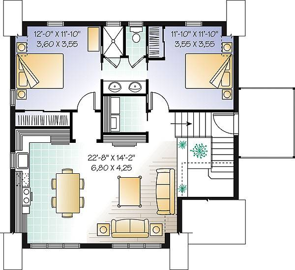 Second level image of Featured House Plan: BHG - 1153
