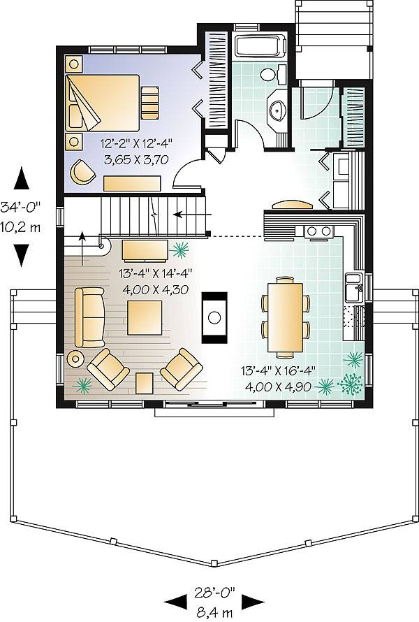 First level image of Featured House Plan: BHG - 1165