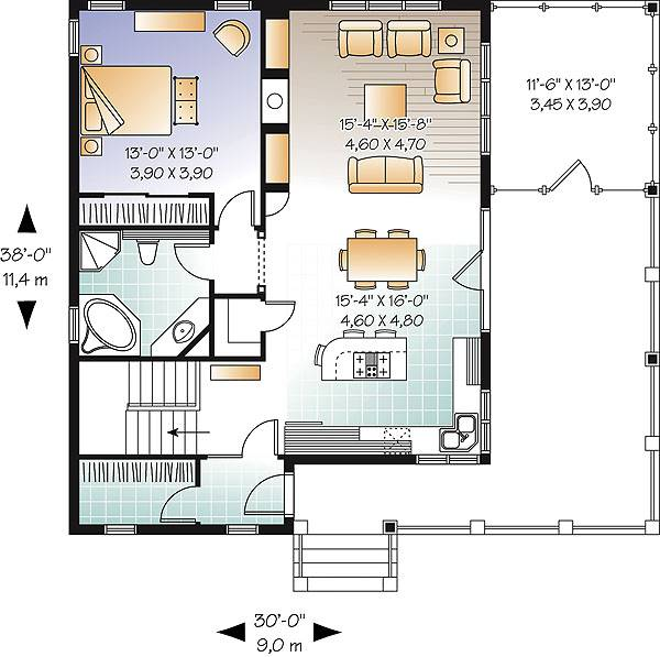 First level image of Featured House Plan: BHG - 2022