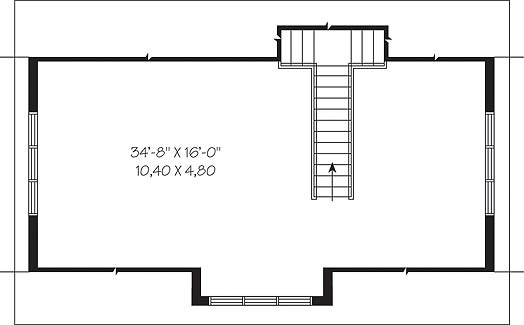 Second level image of Featured House Plan: BHG - 4654