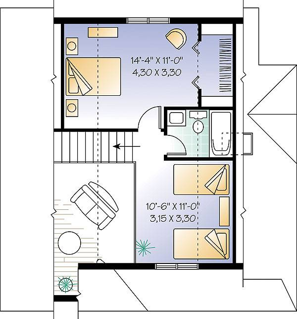 Second level image of Featured House Plan: BHG - 1151
