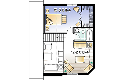 Second level image of Featured House Plan: BHG - 2314