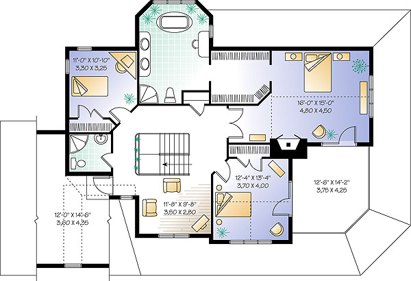 Second level image of Featured House Plan: BHG - 1173