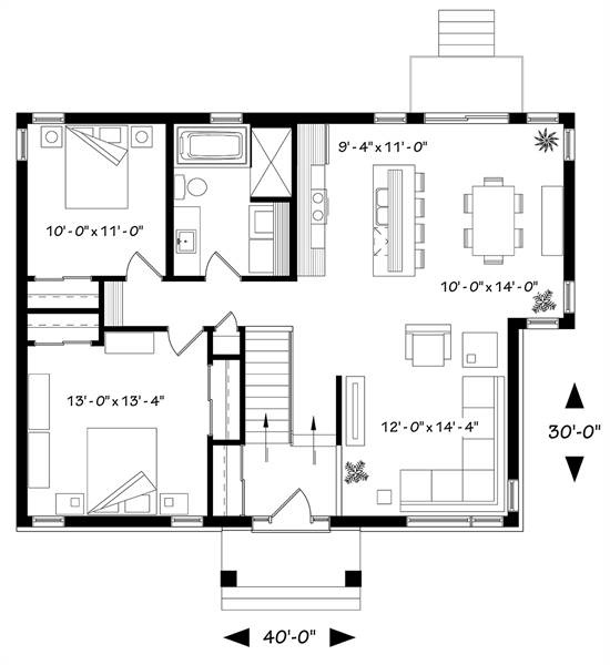 First level image of Featured House Plan: BHG - 4706