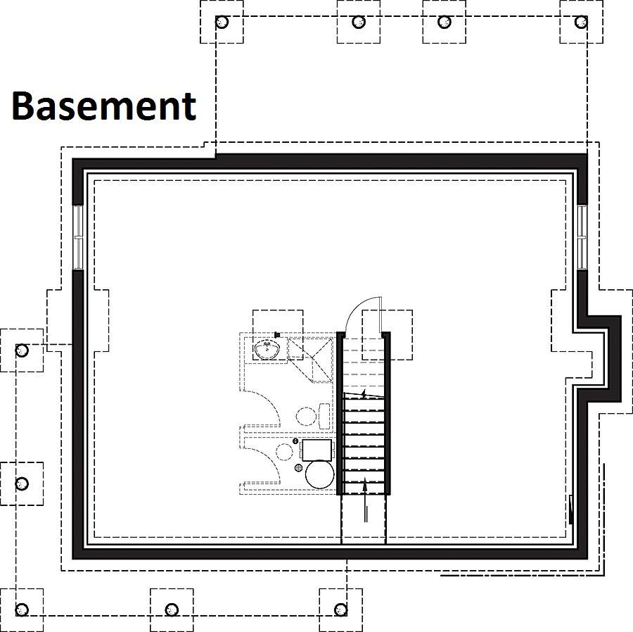 Basement image of Featured House Plan: BHG - 6093