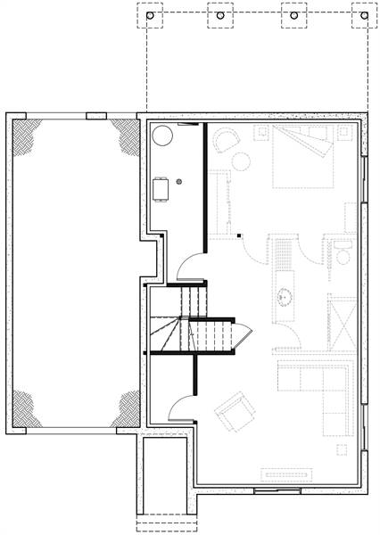 Basement image of Featured House Plan: BHG - 6368