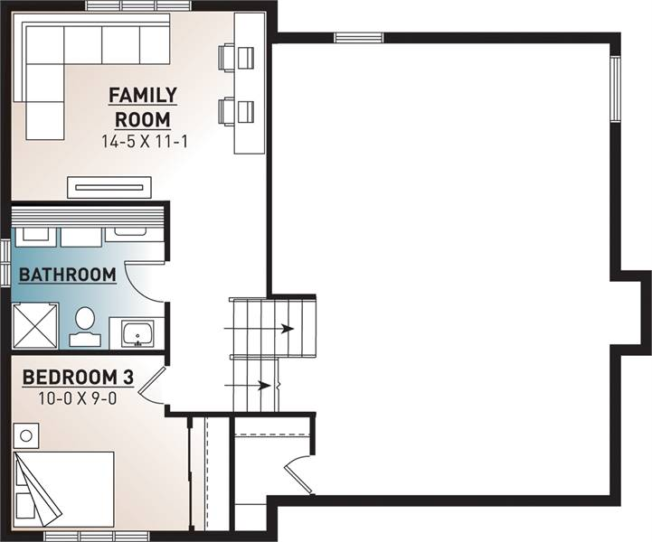 Basement image of Featured House Plan: BHG - 7476