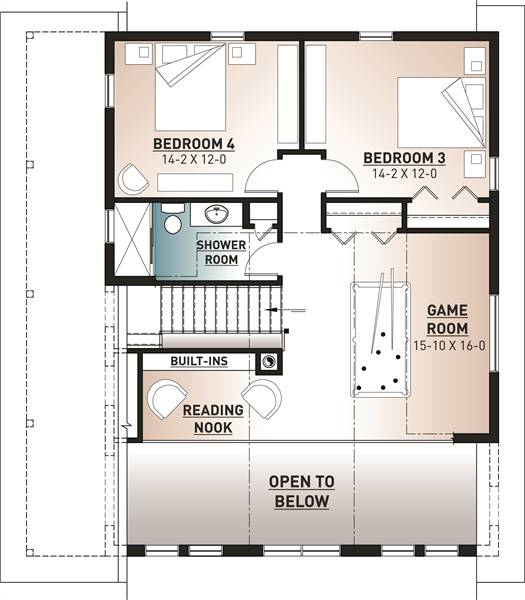 2nd Floor Plan image of Featured House Plan: BHG - 7545