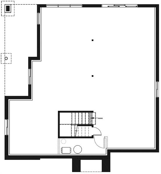 Basement image of Featured House Plan: BHG - 7823