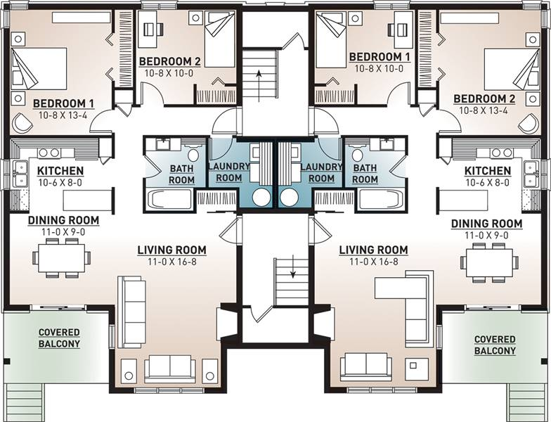 1st Floor Plan image of Featured House Plan: BHG - 7855