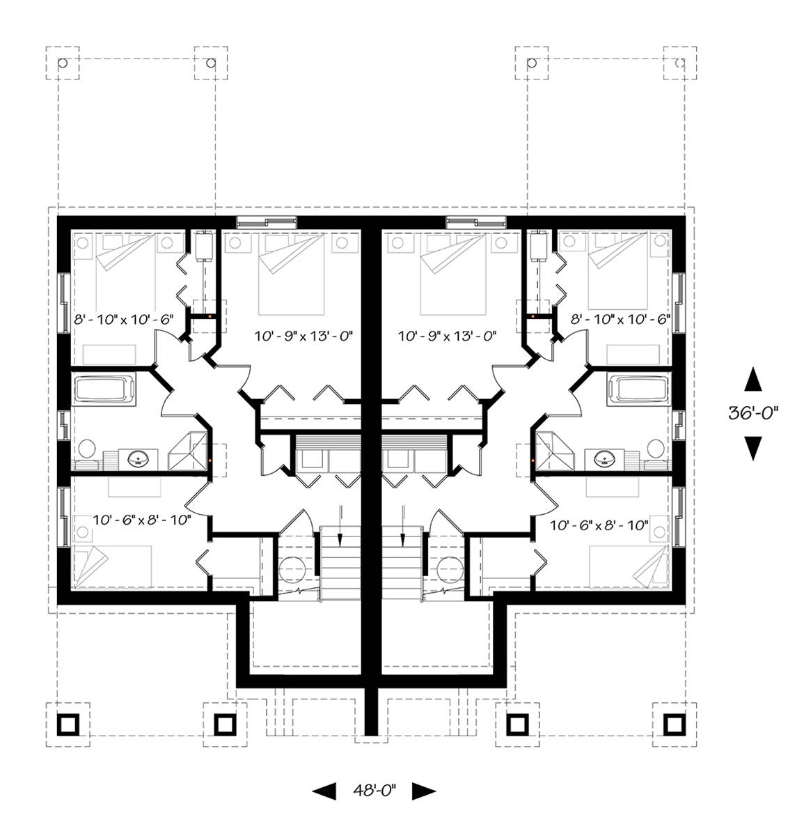 Basement image of Featured House Plan: BHG - 7856