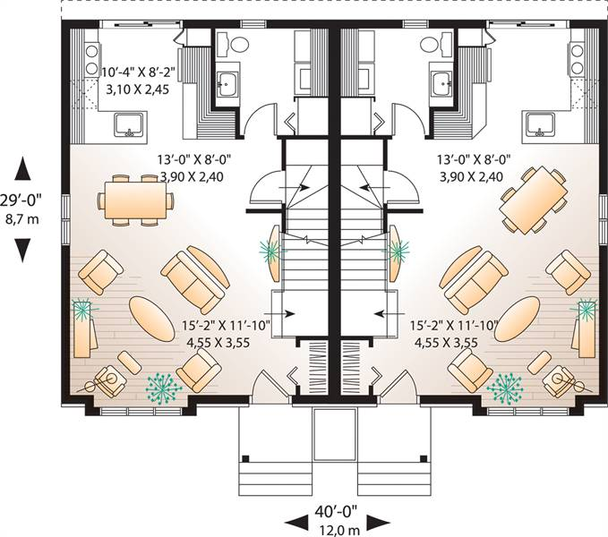 1st Floor Plan image of Featured House Plan: BHG - 7862