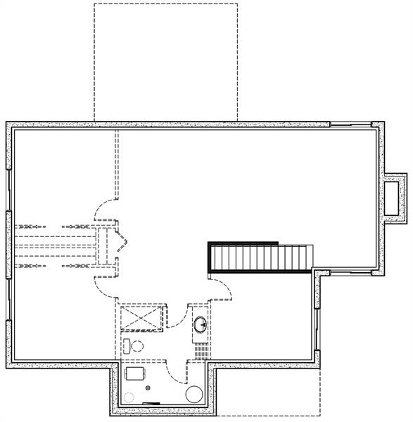 Basement image of Featured House Plan: BHG - 7875
