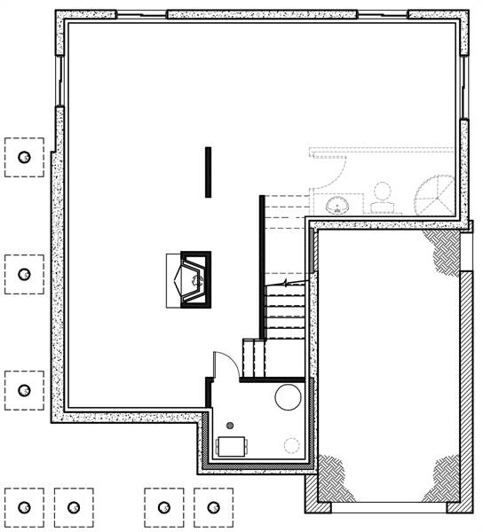 Basement image of Featured House Plan: BHG - 8345