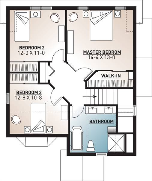2nd Floor Plan image of Featured House Plan: BHG - 9558