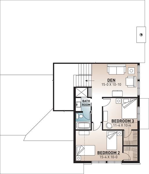 2nd Floor Plan image of Featured House Plan: BHG - 9842