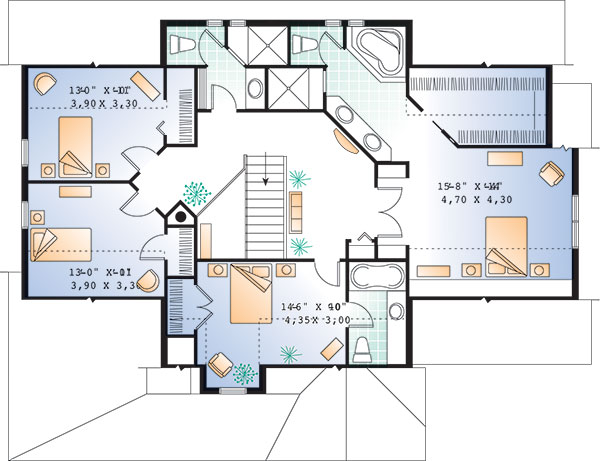 Second level image of Featured House Plan: BHG - 9834