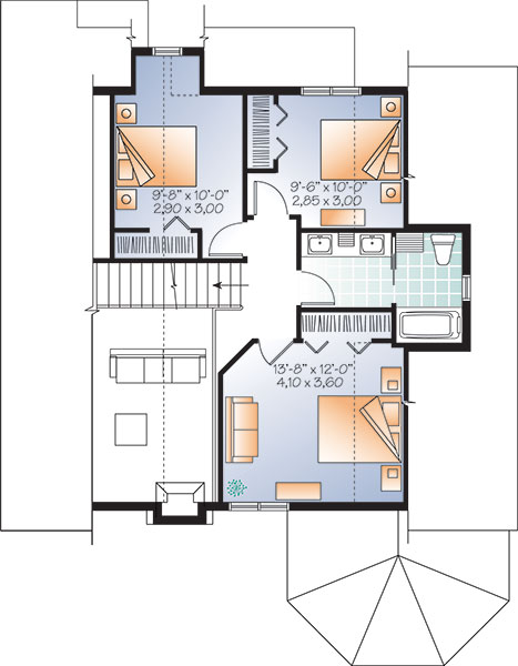 Second level image of Featured House Plan: BHG - 9817