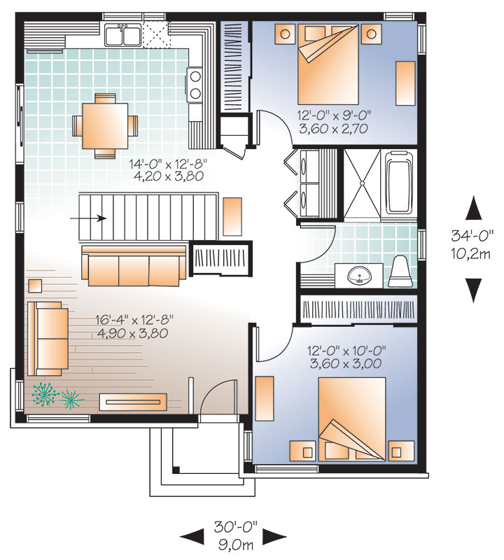 First level image of Featured House Plan: BHG - 9568