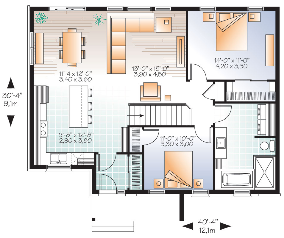 First level image of Featured House Plan: BHG - 9531