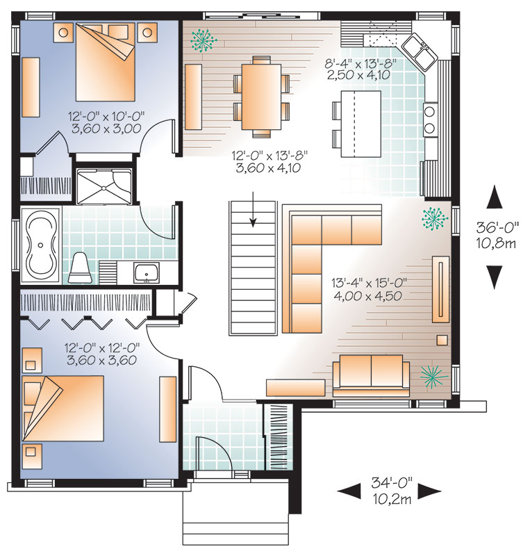 First level image of Featured House Plan: BHG - 9539