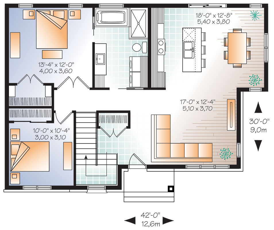 First floor image of Featured House Plan: BHG - 9523