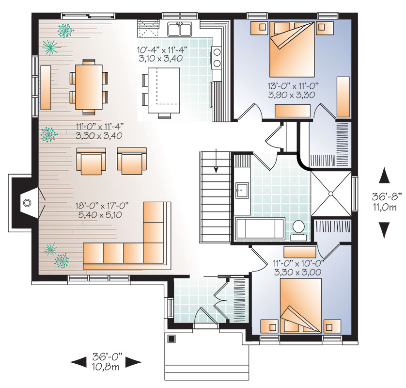 First level image of Featured House Plan: BHG - 9836