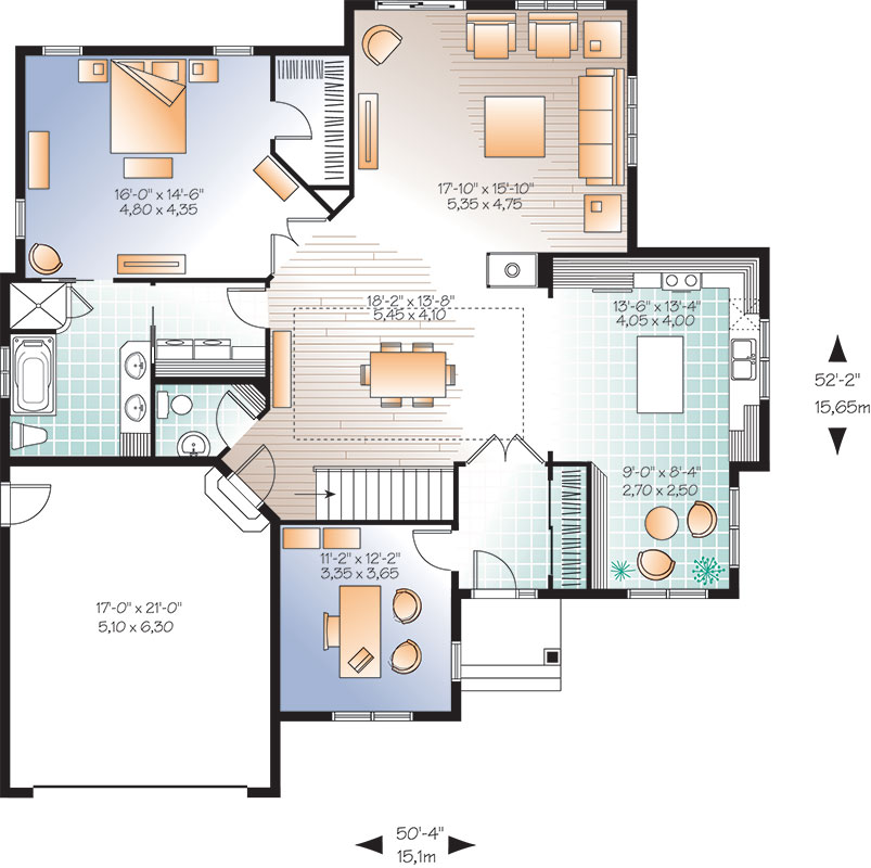 First level image of Featured House Plan: BHG - 9555