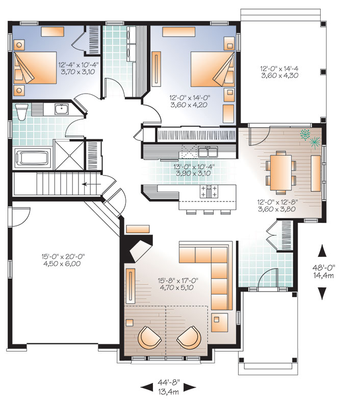 First level image of Featured House Plan: BHG - 9529