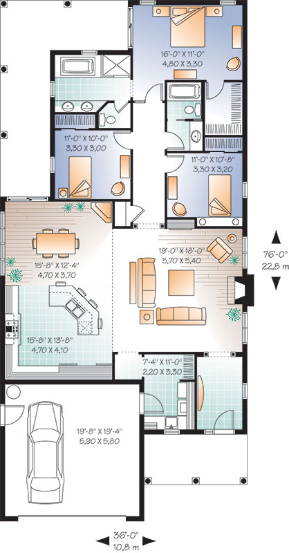 First level image of Featured House Plan: BHG - 9557