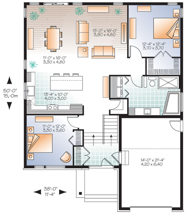 First level image of Featured House Plan: BHG - 9520