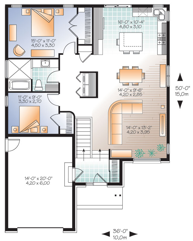 First level image of Featured House Plan: BHG - 9519