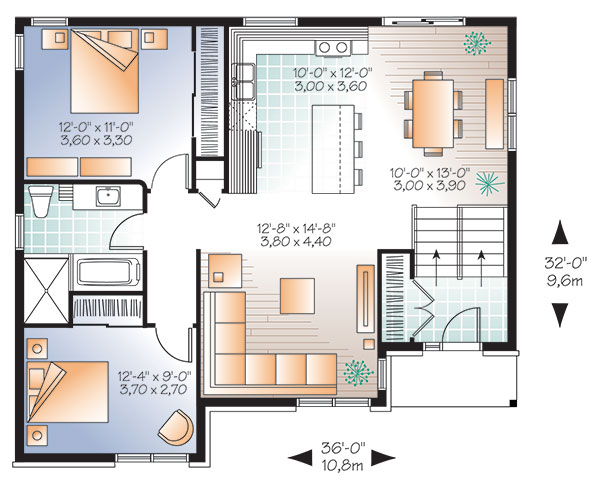First level image of Featured House Plan: BHG - 9518