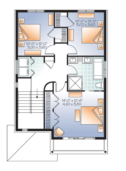 Second level image of Featured House Plan: BHG - 9542