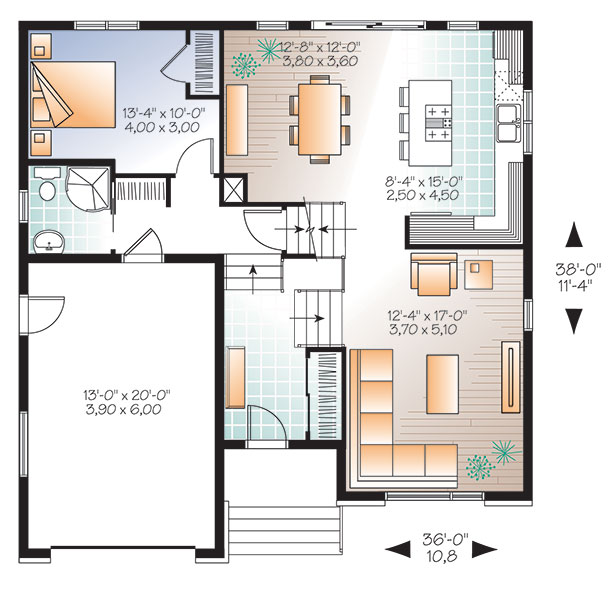 First level image of Featured House Plan: BHG - 9535