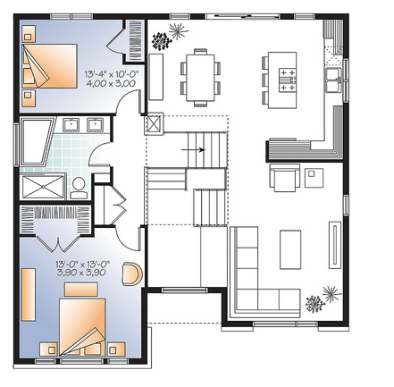Second level image of Featured House Plan: BHG - 9535