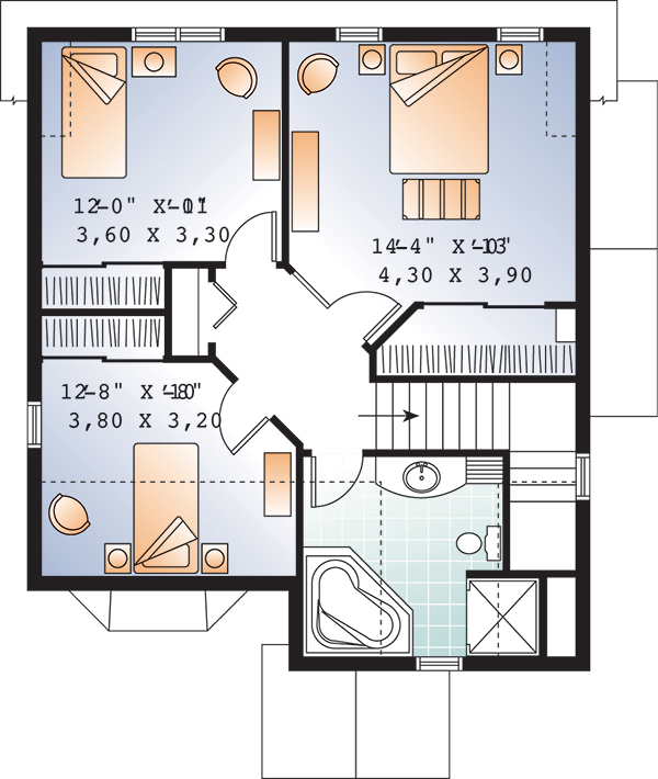 Second level image of Featured House Plan: BHG - 9558