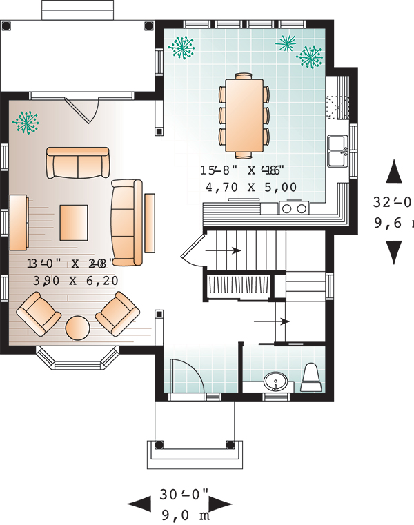 First level image of Featured House Plan: BHG - 9558