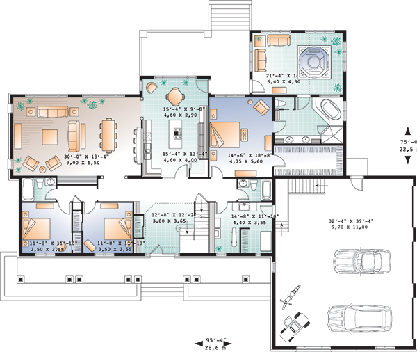 First level image of Featured House Plan: BHG - 9561