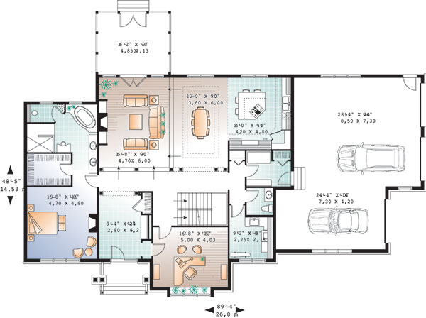 First level image of Featured House Plan: BHG - 9553