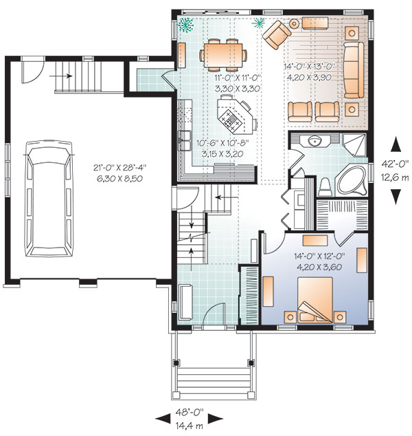 First level image of Featured House Plan: BHG - 9578