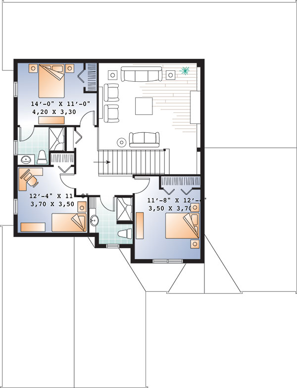 Second level image of Featured House Plan: BHG - 9549