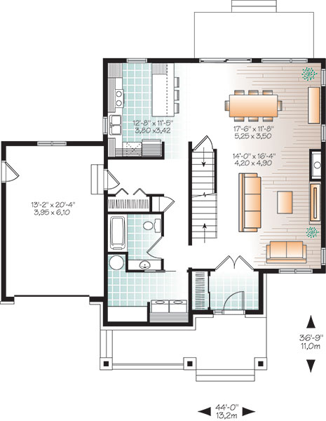 First level image of Featured House Plan: BHG - 9829