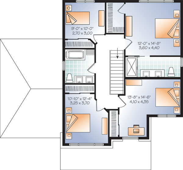 Second level image of Featured House Plan: BHG - 9829