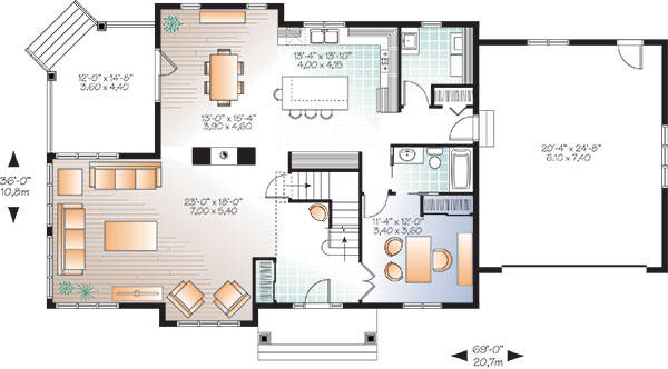 First level image of Featured House Plan: BHG - 9830