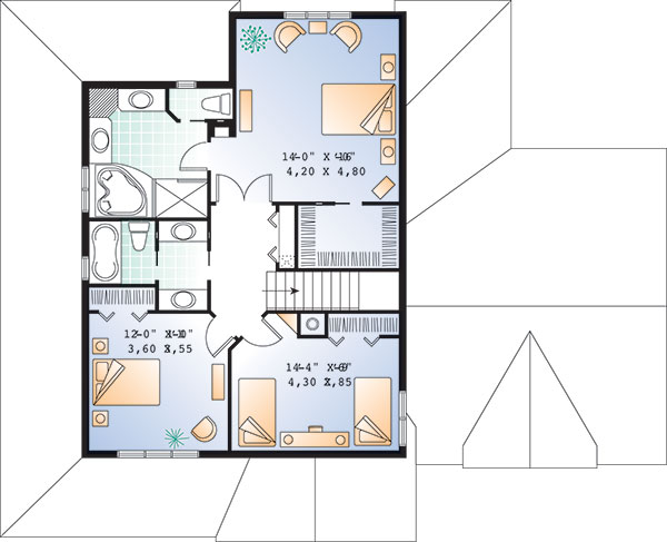 Second level image of Featured House Plan: BHG - 9583